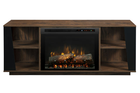Dimplex Arlo Media Console Electric Fireplace Walnut | 26 XHD Firebox Logs | Entertainment Package Cabinet | GDS26L8-1918TW | Dimplex