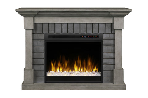 Image of Dimplex  Royce Electric Fireplace Mantel Package Smoke Stack Grey with 28'' Firebox | Electric Fireplace Cabinet | GDS28G8-1924SK | Electric Fireplaces Depot