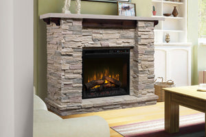 Dimplex Featherston Electric Fireplace Mantel Package in Ledgerock | 28