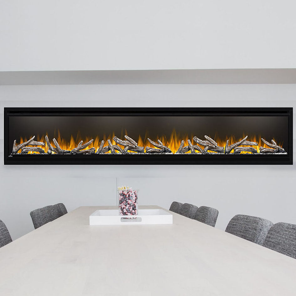 Napoleon Alluravision 100-inch Wall Mount Electric Fireplace - Deep - Linear - NEFL100CHD - NEFL100CHD1-Electric Fireplaces Depot