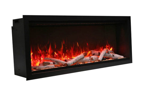 Image of Amantii Symmetry 74'' Built In Fully Recessed Flush Mount Linear Electric Fireplace | Extra Tall Deep | SYM-74-XT | Electric Fireplaces Depot