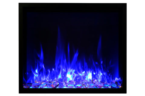 Amantii Traditional Series 48 Inch Built-In Electric Firebox Insert | Electric Fireplace Heater | TRD-48 |  Electric Fireplaces Depot