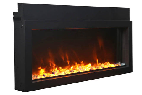 Image of Amantii Panorama 60-in Extra Slim Built-in Electric Fireplace - Heater - BI-60XTRASLIM - Electric Fireplaces Depot