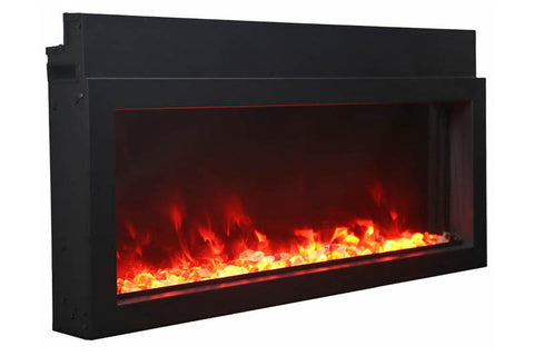 Amantii Panorama 30-in Extra Slim Built-in Electric Fireplace - Heater - Electric Fireplaces Depot