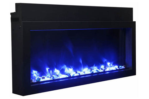 Image of Amantii Panorama 30-in Extra Slim Built-in Electric Fireplace - Heater - BI-30XTRASLIM - Electric Fireplaces Depot