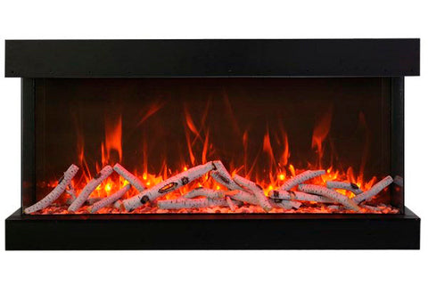 Amantii Tru View Extra Tall Deep 72-inch 3-Sided View Built In Electric Fireplace with Heater | 72-TRV-XT-XL | Electric Fireplaces Depot