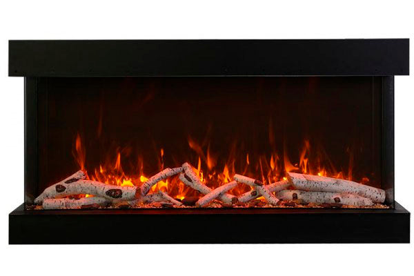 Amantii Tru View Extra Tall Deep 40-inch 3-Sided View Built In Electric Fireplace with Heater | 40-TRV-XT-XL | Electric Fireplaces Depot