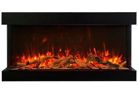 Image of Amantii Tru View Extra Tall Deep 88-inch 3-Sided View Built In Electric Fireplace with Heater | 88-TRV-XT-XL | Electric Fireplaces Depot