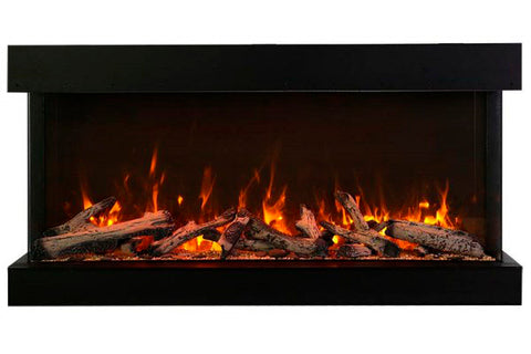 Amantii Tru View Extra Tall Deep 88-inch 3-Sided View Built In Electric Fireplace with Heater | 88-TRV-XT-XL | Electric Fireplaces Depot