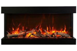 Amantii Panorama Tru View Extra Tall & Deep 72-inch 3-Sided Built In Electric Fireplace