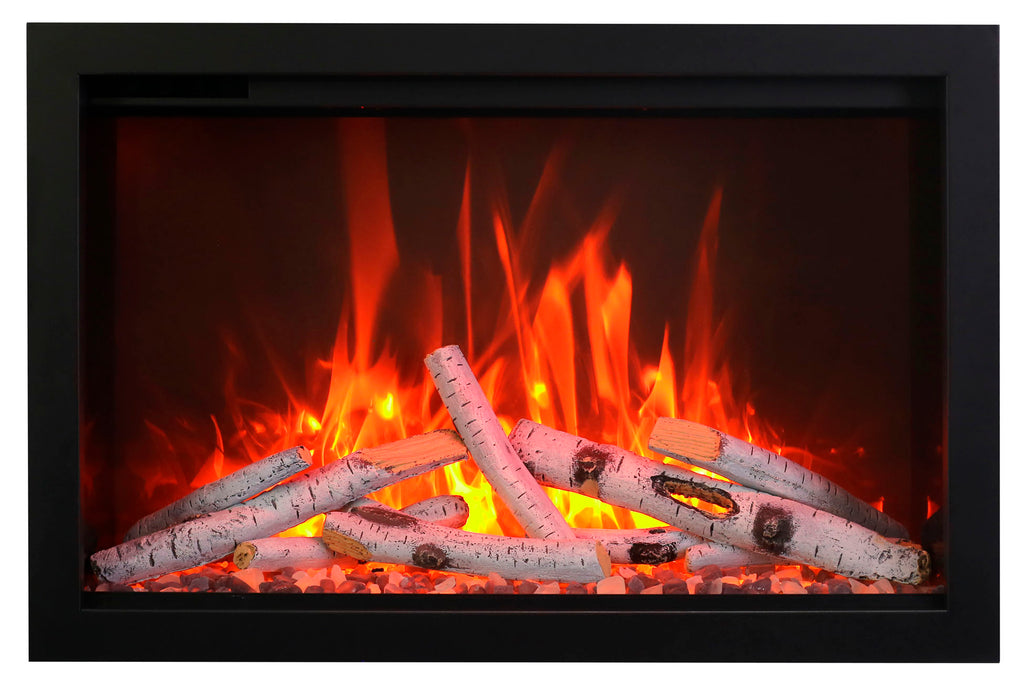 Amantii Traditional Series 33 Inch Built-In Electric Firebox Insert | Electric Fireplace Heater | TRD-33 | Electric Fireplaces Depot