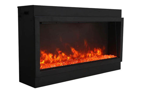 Amantii Panorama 72-in Deep Tall Built-in Electric Fireplace - Heater - Electric Fireplaces Depot