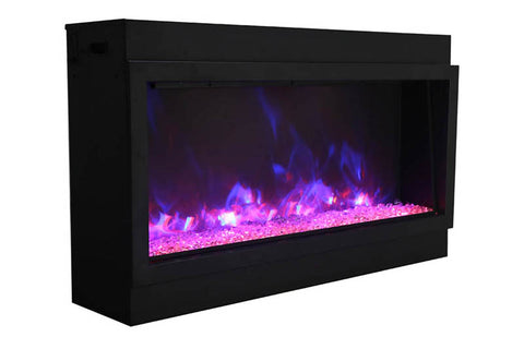 Amantii Panorama 40-inch Built-in Tall & Deep Indoor/Outdoor Electric Fireplace