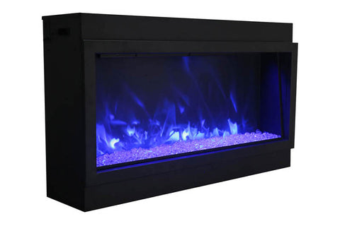 Image of Amantii Panorama 60-in Deep Tall Built-in Electric Fireplace - Heater - BI-60-DEEP-XT - Electric Fireplaces Depot