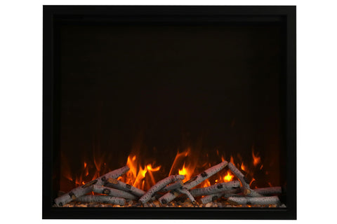 Image of Amantii Traditional Series 44 Inch Built-In Electric Firebox Insert | Electric Fireplace Heater | TRD-44 | Electric Fireplaces Depot