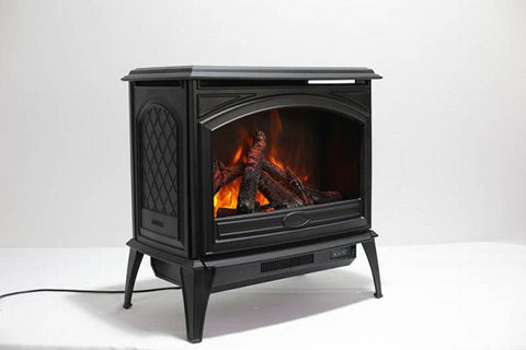 Image of Sierra Flame 28-inch Cast Iron Freestanding Electric Stove - Electric Fireplace Heater - Logs Set - Electric Fireplaces Depot