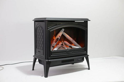 Sierra Flame 28-inch Cast Iron Freestanding Electric Stove - Electric Fireplace Heater - Logs Set - Electric Fireplaces Depot