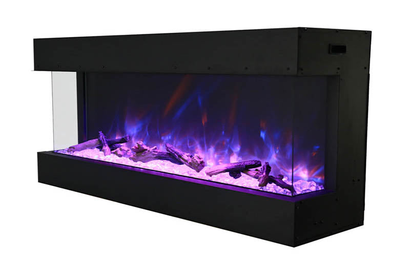 Amantii Panorama 40 inch 3-Sided Built-in Electric Fireplace - Heater - Electric Fireplaces Depot