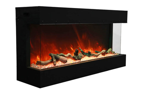 Amantii Panorama 60 inch 3-Sided Built-in Electric Fireplace - Heater - Electric Fireplaces Depot