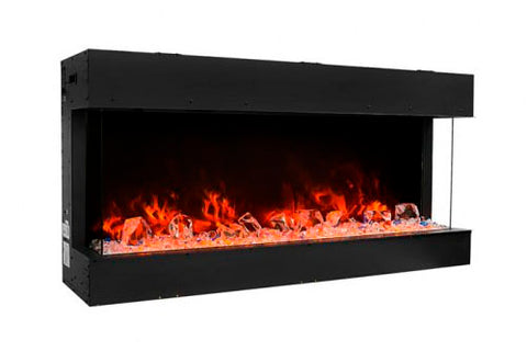 Image of Amantii Tru View Slim 30-inch 3-Sided View Built In Electric Fireplace with Heater | 30-TRV-SLIM | Electric Fireplaces Depot