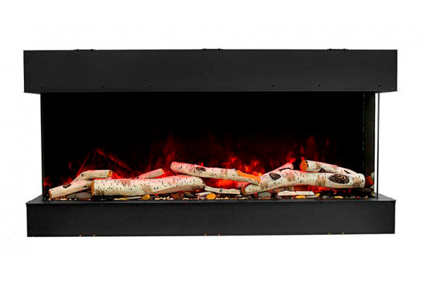 Amantii Tru View Slim 72-inch 3-Sided View Built In Electric Fireplace with Heater | 72-TRV-SLIM | Electric Fireplaces Depot