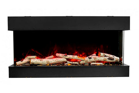 Image of Amantii Tru View Slim 50-inch 3-Sided View Built In Electric Fireplace with Heater | 50-TRV-SLIM | Electric Fireplaces Depot