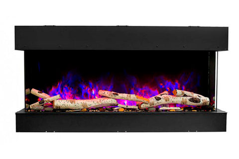 Image of Amantii Tru View Slim 72-inch 3-Sided View Built In Electric Fireplace with Heater | 72-TRV-SLIM | Electric Fireplaces Depot
