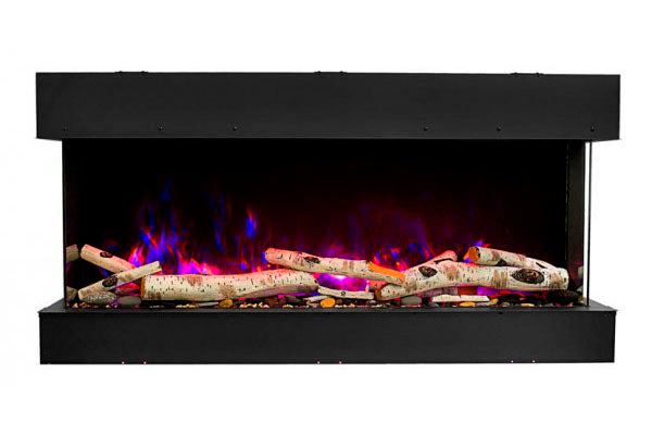 Amantii Tru View Slim 30-inch 3-Sided View Built In Electric Fireplace with Heater | 30-TRV-SLIM | Electric Fireplaces Depot