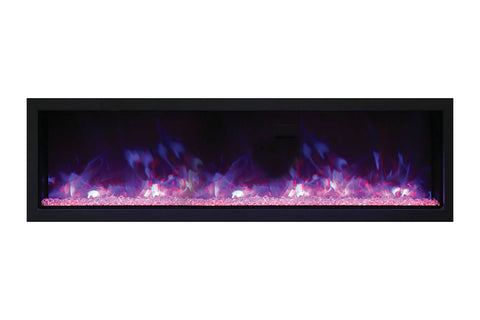 "Remii 55"" Extra Slim Built-In Indoor and Outdoor Electric Fireplace"