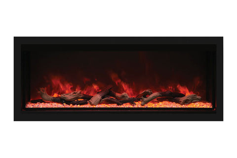"Remii 55"" Extra Tall Deep Built-In Electric Fireplace"