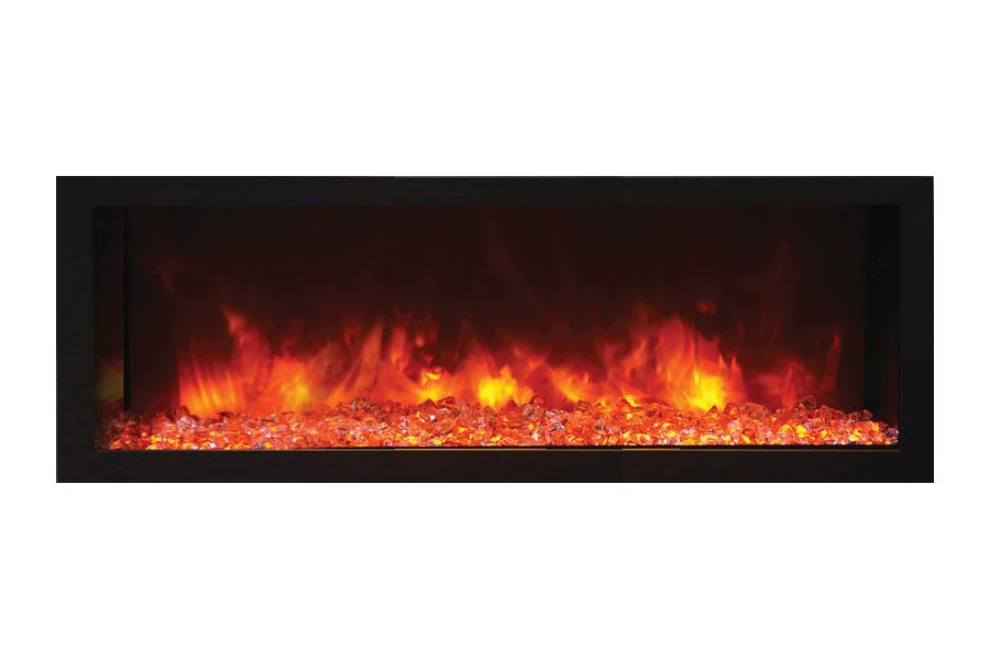 Remii 45 inch Extra Deep Built-In Electric Fireplace - Heater - Modern - Electric Fireplaces Depot