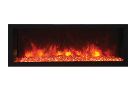 Remii 45 inch Extra Deep Built-In Indoor Outdoor Electric Fireplace | Heater | 102745-DE | Electric Fireplaces Depot