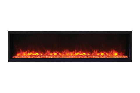Image of Remii 65 Inch Extra Slim Built-In Indoor Outdoor Electric Fireplace | Heater | 102765-XS | Electric Fireplaces Depot