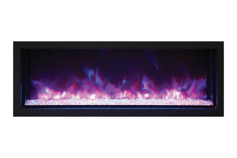 Image of Remii 45 Inch Extra Slim Built-In Indoor Outdoor Electric Fireplace | Heater | 102745-XS | Electric Fireplaces Depot