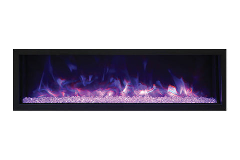 Remii 55'' Extra Slim Built-In Electric Fireplace - Heater - Outdoor - Electric Fireplaces Depot