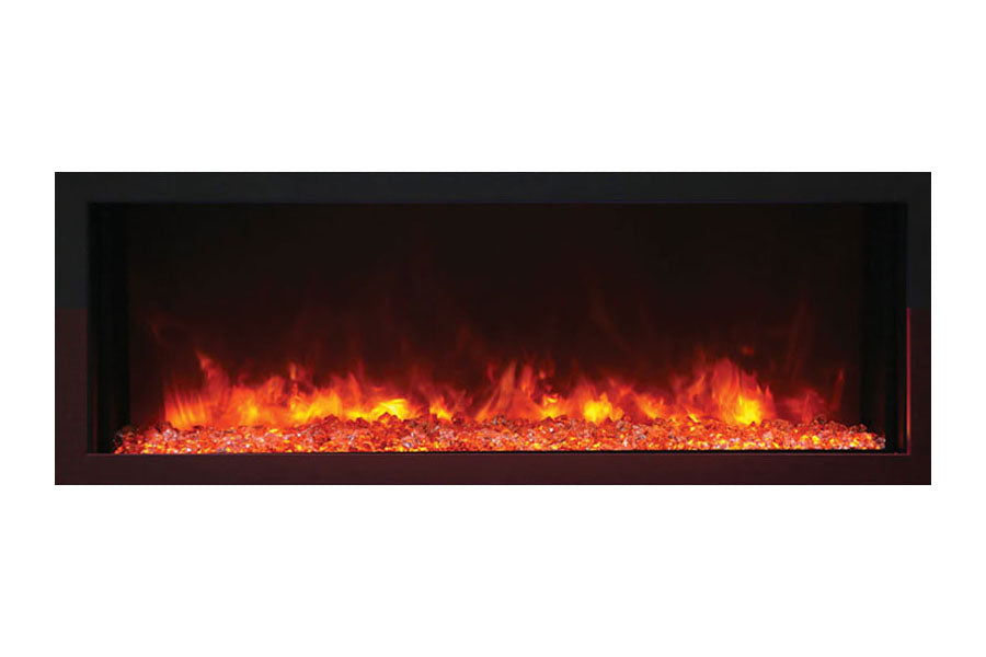 Remii 45 Inch Extra Slim Built-In Indoor Outdoor Electric Fireplace | Heater | 102745-XS | Electric Fireplaces Depot