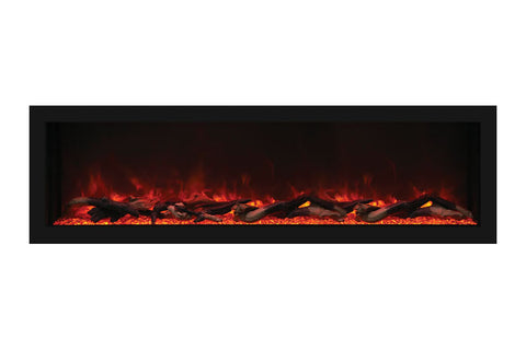 Remii 55 Inch Extra Deep Built-In Electric Fireplace - Heater - Modern - Electric Fireplaces Depot