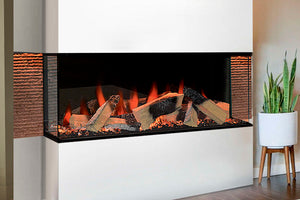 Evonicfires Kiruna 40'' Halo Series Built-In 3-sided Electric Fireplace