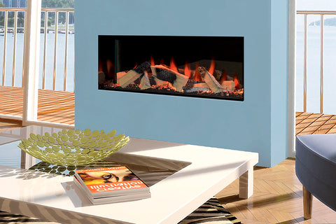 Electric Modern Evonicfires Halo Series 40-inch Built-In Linear Electric Fireplace - Kiruna | EV-FP-Halo-KIRUNA | Electric Fireplaces Depot