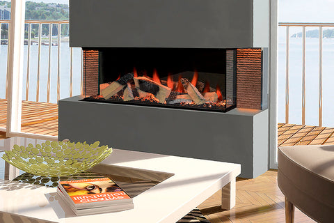 Image of Electric Modern Evonicfires Halo Series 40-inch Built-In 3-sided Electric Fireplace - Kiruna | EV-FP-Halo-KIRUNA | Electric Fireplaces Depot