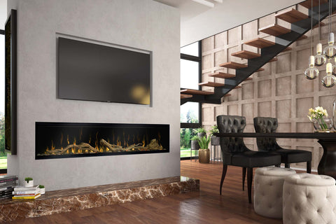 Image of Dimplex Ignite XL 74 inch Linear Electric Fireplace | Built-In | Wall Mount | XLF74 | Electric Fireplaces Depot