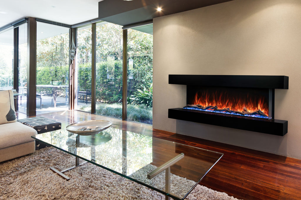 Modern Flames Landscape Pro 58'' Electric Fireplace Wall Mount Studio Suite | Dark Espresso