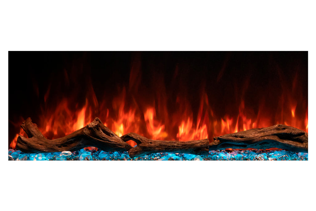 Modern Flames Landscape Pro 70'' 3-Sided Electric Fireplace Wall Mount Studio Suite Mantel in Espresso | WMC56LPMESP | Electric Fireplaces Depot