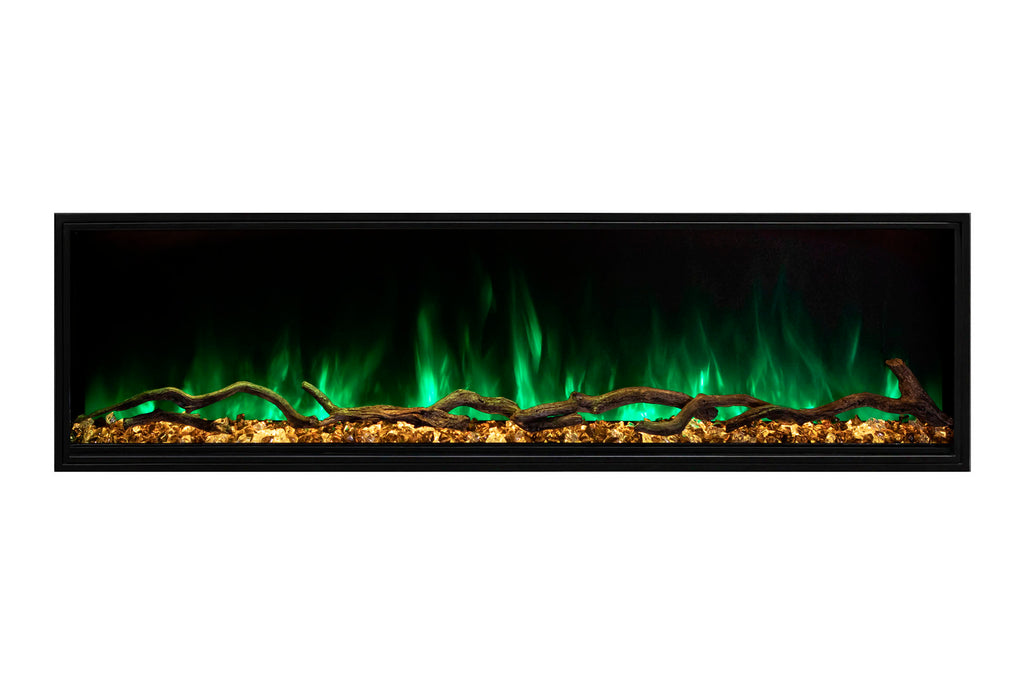 Modern Flames Landscape Pro Slim 96-inch Built In Wall Mount Linear Electric Fireplace | LPS-9614 | Electric Fireplaces Depot
