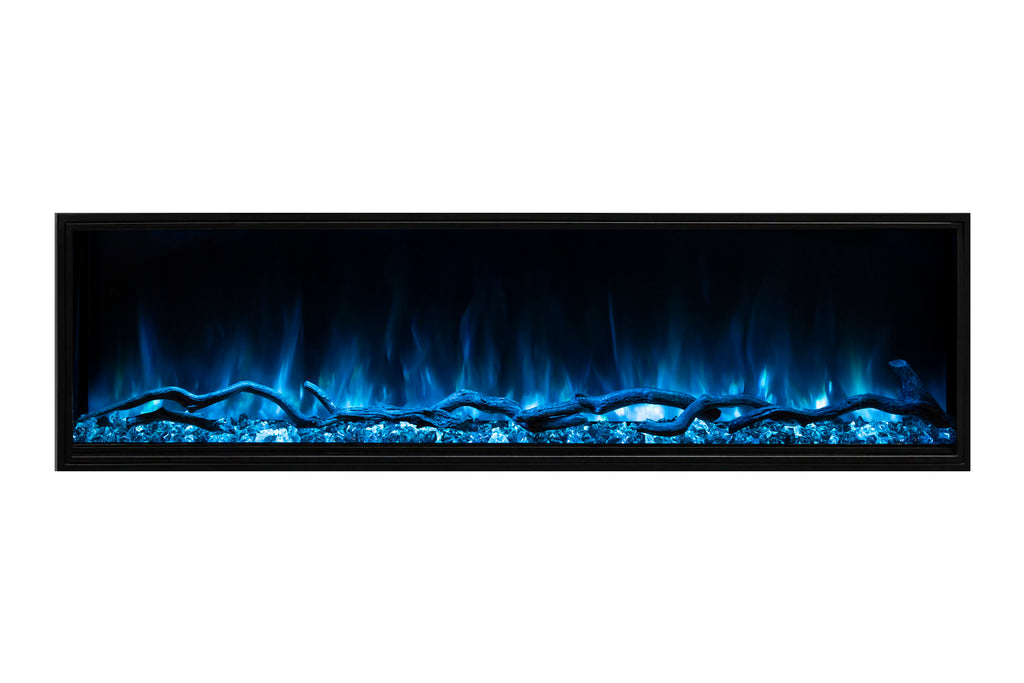 Modern Flames Landscape Pro Slim 44 Inch Built In Linear Electric Fireplace Fully Recessed Fireplace Lps 4414 Electric Fireplaces Depot