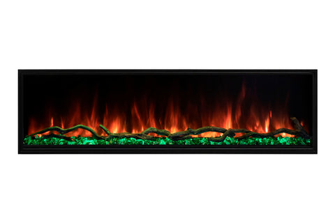 Modern Flames Landscape Pro Slim 56-inch Built In Wall Mount Linear Electric Fireplace | LPS-5614 | Electric Fireplaces Depot