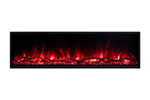 Image of Modern Flames Landscape Pro Slim 44-inch Built In Wall Mount Linear Electric Fireplace | LPS-4414 | Electric Fireplaces Depot