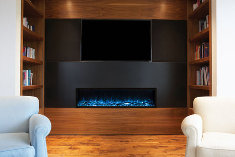 Image of Modern Flames Landscape Pro Slim 96-inch Built In Wall Mount Linear Electric Fireplace | LPS-9614 | Electric Fireplaces Depot