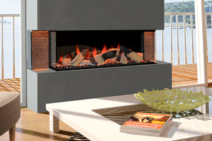 Evonicfires Linnea 60'' Halo Series Built-In 3-sided Electric Fireplace