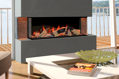 European Home Evonicfires 60 Inch Linnea Halo Series Built-In 3-sided Electric Fireplace | EV-FP-Halo-LINNEA  | Electric Fireplaces Depot